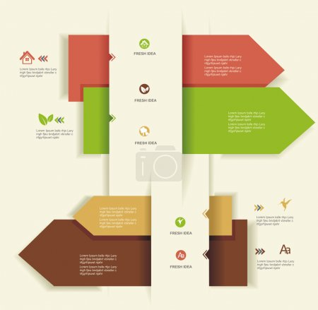 Illustration for Modern Design template.Use for infographics,numbered banners,web design. - Royalty Free Image