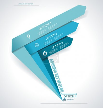 Illustration for Set vector arrows. Minimal infographics. - Royalty Free Image