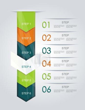 design moderne style minimal infographie template.can être utilisé pour