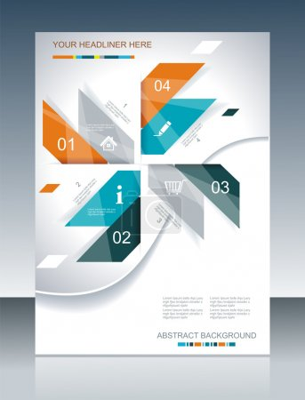 Illustration for Vector brochure template design with abstract elements. - Royalty Free Image