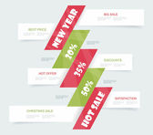 Big Sale Christmas Ball Sticker tags with Sale 20 - 50 percent