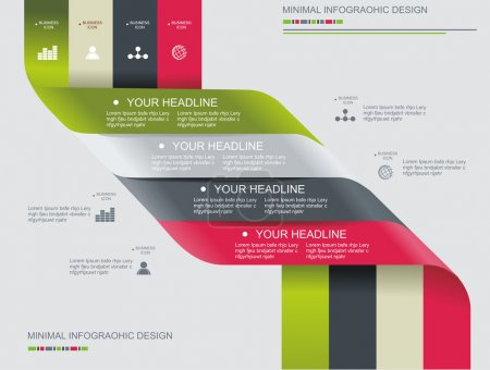 Illustration for Modern spiral infographics options banner. Can be used for diagram, number options, steps banners, workflow layout, web design. - Royalty Free Image