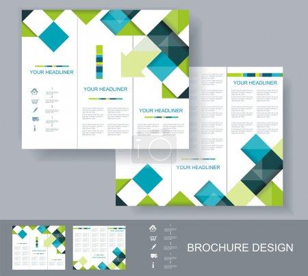 Vector brochure template design.