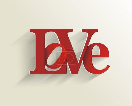 Illustration pour Lettrage amour. des thèmes comme la fête des mères, Saint Valentin, fêtes. illustration vectorielle. - image libre de droit