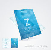 Brochure cover design vector template
