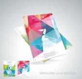 časopis kryt s vzorem geometrických tvarů