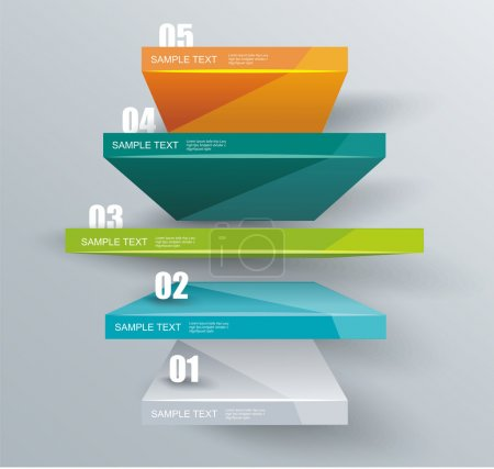 Modern business steps to success, graphs options banner.