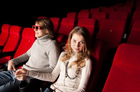 Young couple in the cinema