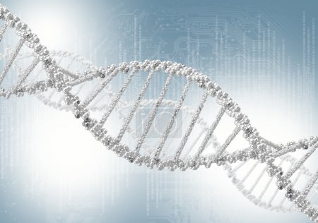 Photo for DNA helix against the colored background, scientific conceptual background - Royalty Free Image