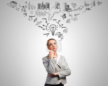 thinking business woman