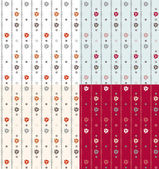 Geometric seamless vintage pattern background with floral elemen