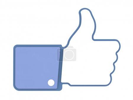 Photo pour Comme icône. le pouce vers le haut de signe pour blogs et sites Web. - image libre de droit