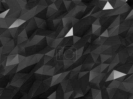 Photo pour Résumé Structure en cristal noir Arrière-plan . - image libre de droit