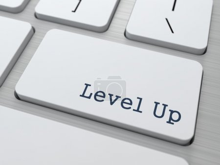 Photo for Level Up Concept. Button on Modern Computer Keyboard with Word Partners on It. - Royalty Free Image