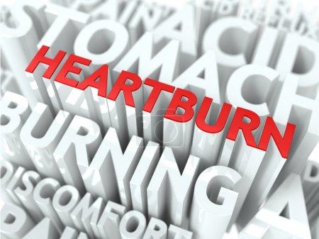 Heartburn Concept.