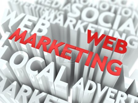 Web Marketing Concept.