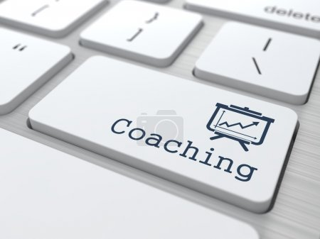 """Photo for Business Concept. """"Coaching"""" Button on Modern Computer Keyboard. - Royalty Free Image"""