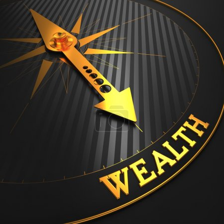 Wealth - Business Background. Golden Compass Needl...