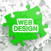 Web-Design. Puzzle-Konzept