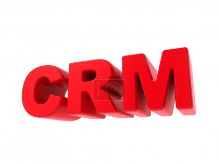 Photo for CRM - Red Text Isolated on White. Internet Concept. - Royalty Free Image