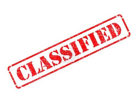 Photo pour Classés - inscription sur le timbre de caoutchouc rouge isolé sur blanc. - image libre de droit
