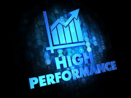High Performance Concept on Digital Background.