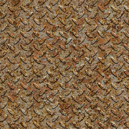 Rusty Metal Diamond Plate. Seamless Texture.