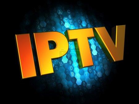 IPTV Concept on Digital Background.