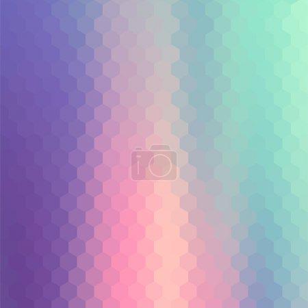 Pastels Color Flow Hexagonal Background. Vintage d...