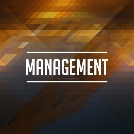 Management Concept on Retro Triangle Background.