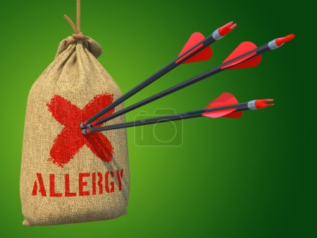 Allergy - Three Arrows Hit in Red Mark Target on a...