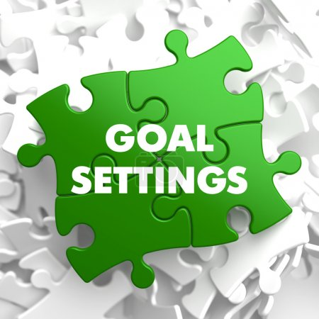 Goal Settings on Green Puzzle.