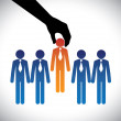 Concept vector graphic- hiring(selecting) the best...