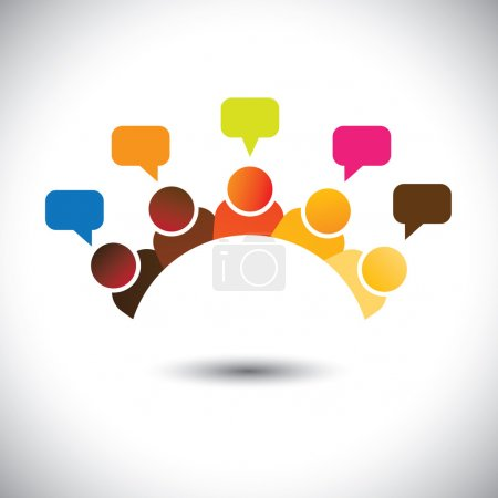 office executives(employees) meetings, discussions, opinions- ve