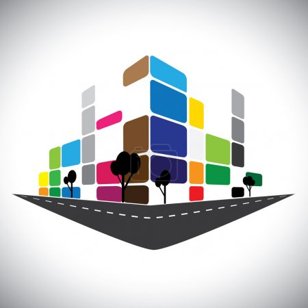 vector icon - building of home apartment or super market or offi