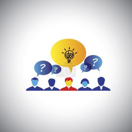 Brainstorming, leader & leadership, winner with id...