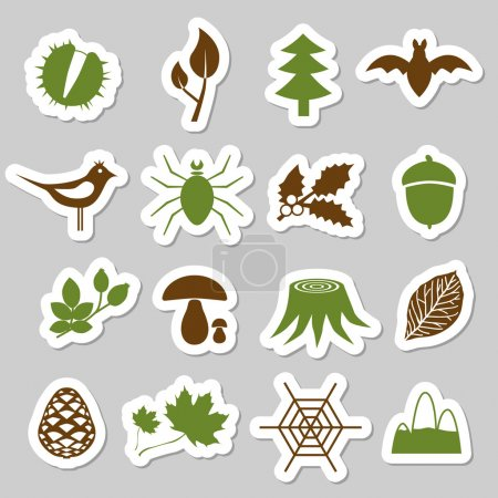 Forest stickers...