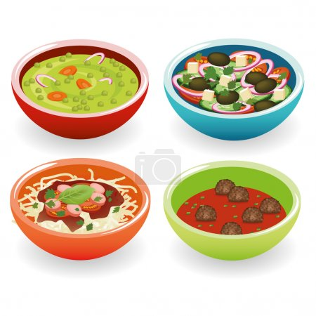Four foods in bowl