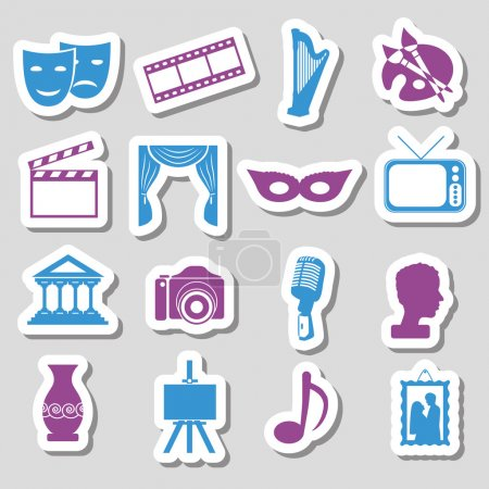 Illustration for Culture stickers - Royalty Free Image