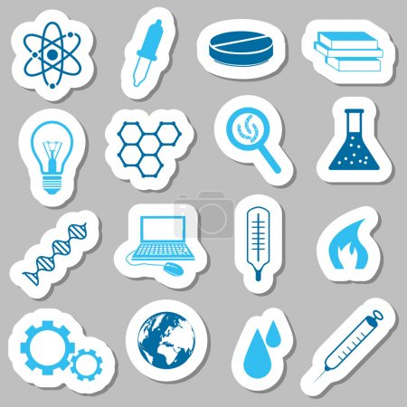Illustration for Science stickers - Royalty Free Image