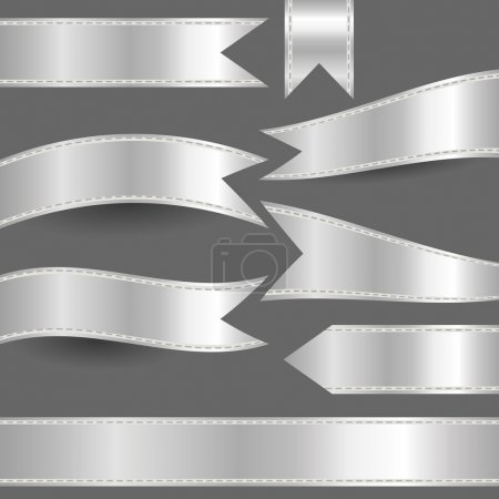 set of silver ribbons