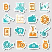 Bitcoin samolepky