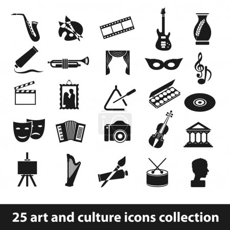 Illustration for 25 art and culture icon collection - Royalty Free Image
