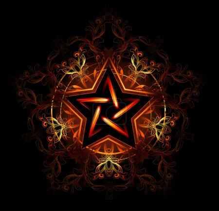 Mystical fiery star