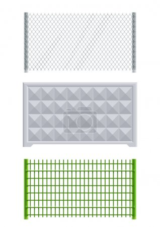 Meallic net and concrete fence