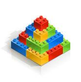 Cihla piramid meccano hračka