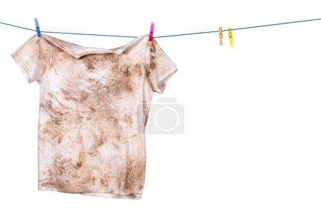 Photo for Dirty shirt hanging to dry - Royalty Free Image