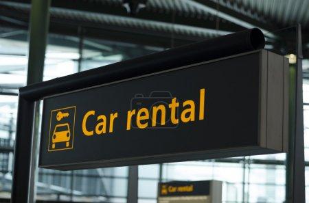 Car rental sign