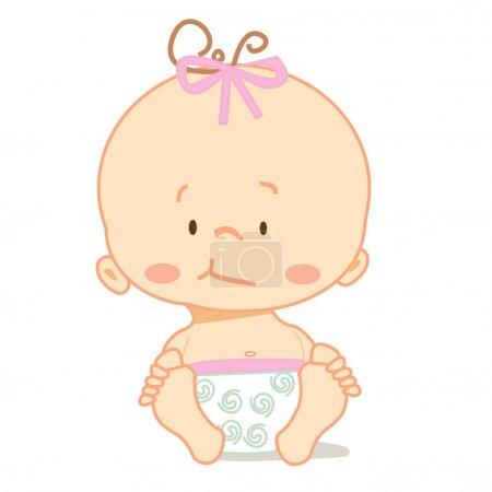 Illustration pour Bébé mignon, illustration vectorielle - image libre de droit
