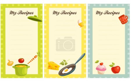 set of old fashioned recipe card
